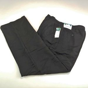 Cubavera Men's Dress Pants Black Elastic Waistband
